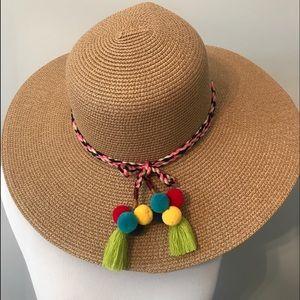 NWT Ann Taylor Loft Straw Floppy Beach Hat